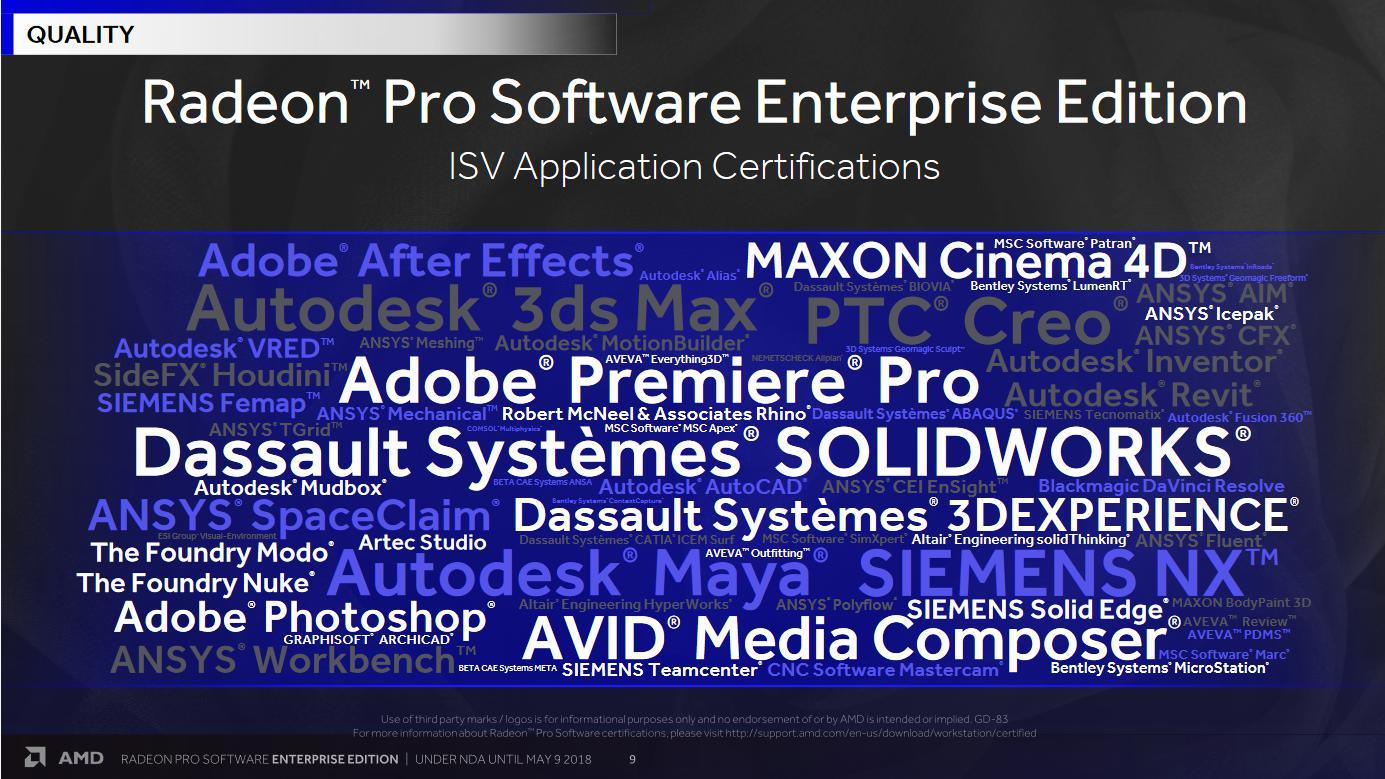 AMD Release Radeon Pro Software Enterprise Edition 18 Q2 Drivers